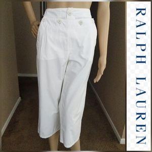 RALPH LAUREN Sailor Style Front CAPRIS